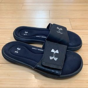 UNDER ARMOUR 4D foam slides, men's 9.